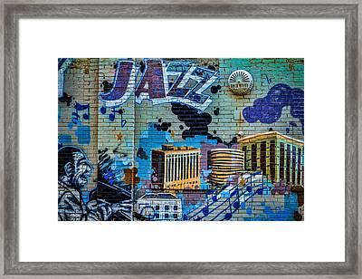 Kansas City Jazz Mural Framed Print by Steven Bateson