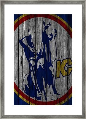 Kansas City Scouts Wood Fence Framed Print by Joe Hamilton