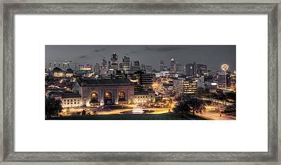 Kansas City Skyline Framed Print by Ryan Heffron