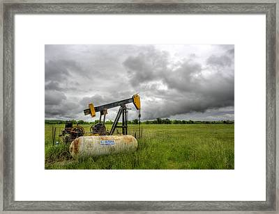 Kansas Oil Framed Print by JC Findley