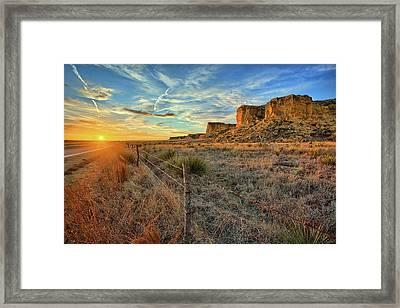 Kansas Scyscraper Framed Print by Thomas Zimmerman
