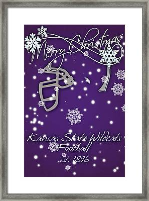 Kansas State Wildcats Christmas Card Framed Print by Joe Hamilton