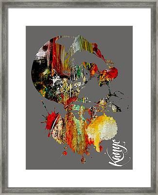 Kanye Framed Print by Marvin Blaine