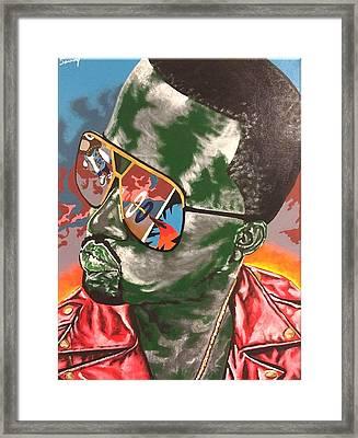 Kanye Visions Framed Print by Sammy Snow