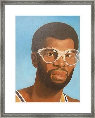 Kareem Framed Print by Nigel Wynter