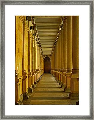 Karlovy Vary Colonnade Framed Print by Juergen Weiss
