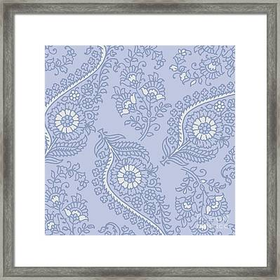 Kasbah Blue Paisley II Framed Print by Mindy Sommers