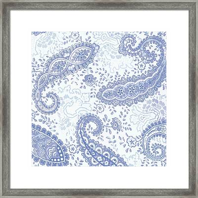 Kasbah Blue Paisley Framed Print by Mindy Sommers