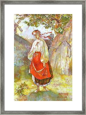 Kateryna Framed Print by Tanya Ilyakhova