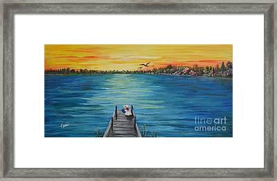 Kathy's Lake Framed Print by Terri  Duncan