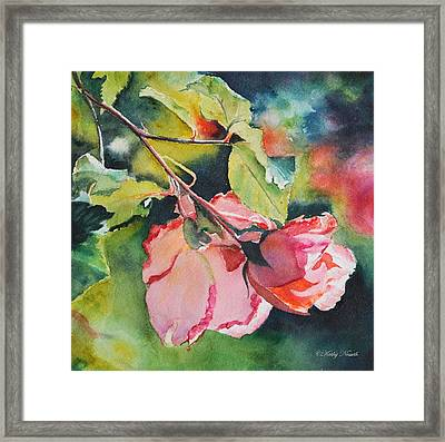 Kathy's Roses Framed Print by Kathy Nesseth