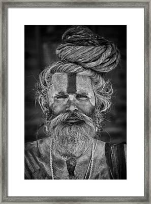 Katmandu Holy Man Framed Print by David Longstreath