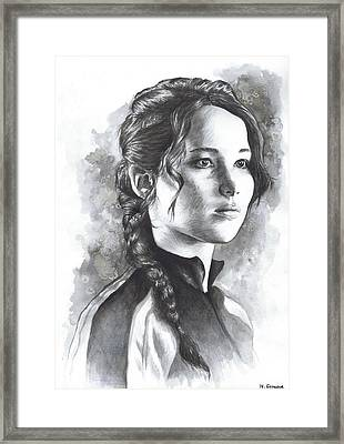Katniss Framed Print by Nienke Feirabend