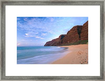 Kauai, Polihale Beach Framed Print by Peter French - Printscapes