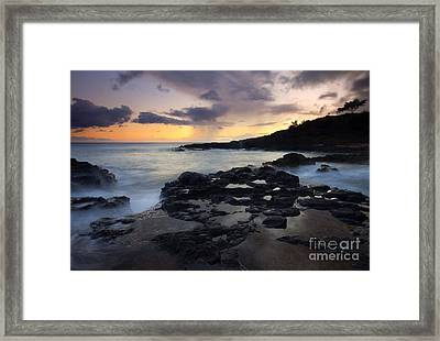 Kauai Storm Passing Framed Print by Mike  Dawson