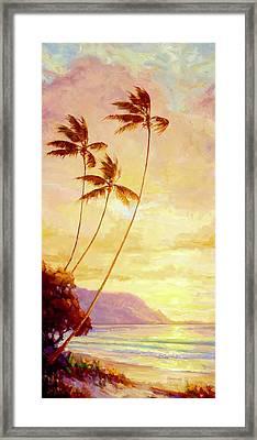Kauai Sunset Framed Print by Jenifer Prince