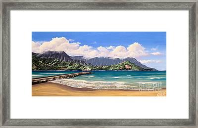 Kauai Surf Paradise Framed Print by Chad Berglund
