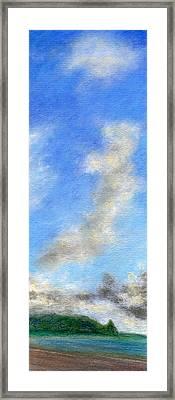 Kauapea Evening Framed Print by Kenneth Grzesik