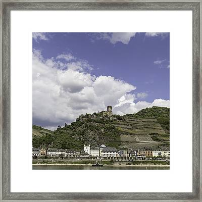 Kaub And Castle Gutenfels Squared Framed Print by Teresa Mucha
