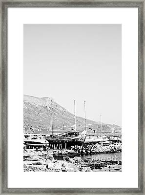 Kavonisi Harbour Framed Print by Gabriela Insuratelu