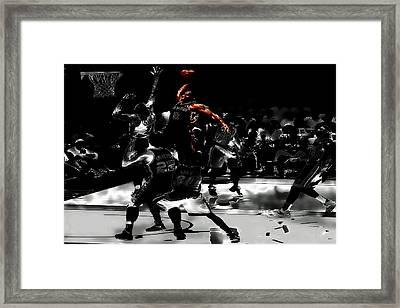 Kawhi Leonard Nasty Slam Framed Print by Brian Reaves