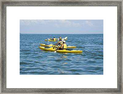 Kayak Trip Framed Print by Stacey Lynn Payne