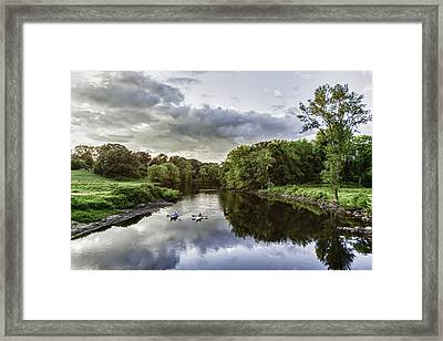 Kayakers Framed Print by Kate Hannon