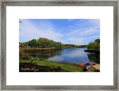 Kayaking The Cotee River Framed Print by Barbara Bowen