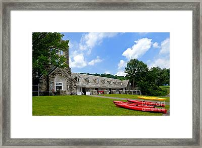Kayaks At Boat House North Park Pittsburgh Pennsylvania Framed Print by Amy Cicconi