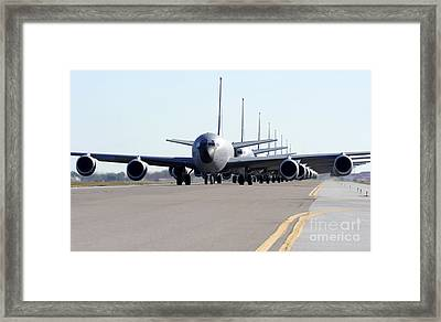 Kc-135 Stratotankers In Lephant Walk Framed Print by Stocktrek Images