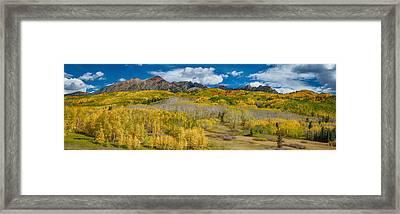 Kebler Pass Autumn Season Panorama Framed Print by James BO  Insogna