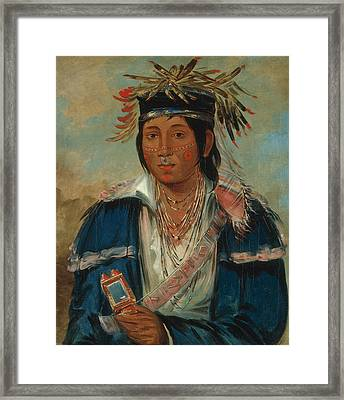Kee-mo-ra-nia, No English, A Dandy Framed Print by George Catlin