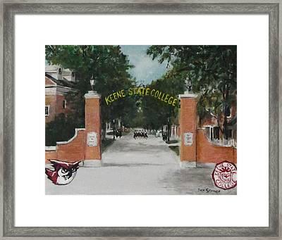 Keene State College Framed Print by Jack Skinner