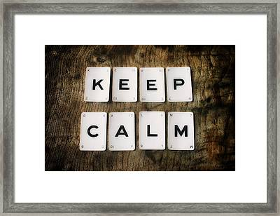 Keep Calm Framed Print by Georgia Fowler