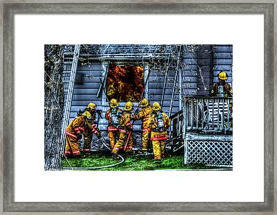 Keep Fire In Your Life No 1 Framed Print by Tommy Anderson