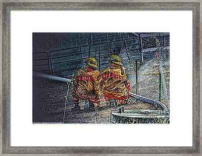 Keep Fire In Your Life No 10 Framed Print by Tommy Anderson