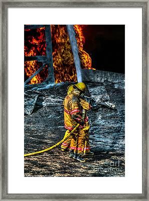 Keep Fire In Your Life No 8 Framed Print by Tommy Anderson