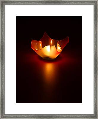 Keep The Light On Framed Print by Evelina Kremsdorf