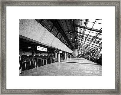 Keflavik Airport Departures Check In Area Terminal Building Iceland Framed Print by Joe Fox