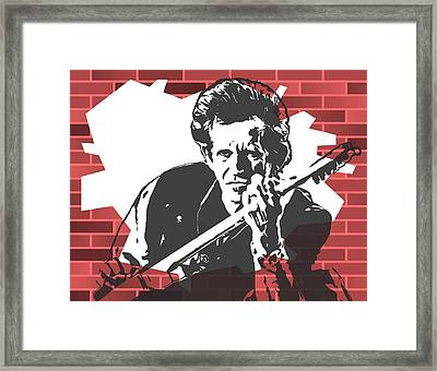Keith Richards Graffiti Tribute Framed Print by Dan Sproul