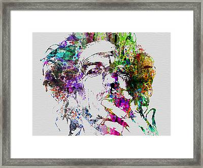 Keith Richards Framed Print by Naxart Studio