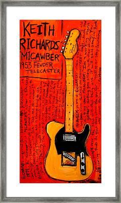 Keith Richards' Micawber Framed Print by Karl Haglund