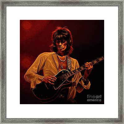 Keith Richards Mixed Media Framed Print by Paul Meijering