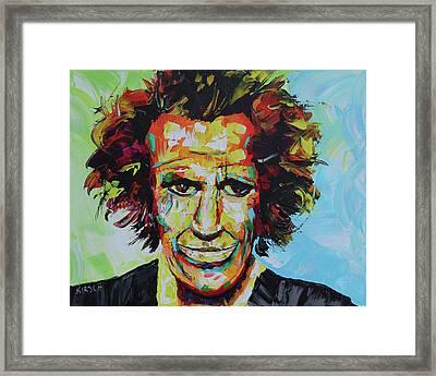 Keith Richards Framed Print by Robert Kirsch
