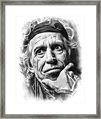 Keith Richards Sketch Framed Print by Scott Wallace