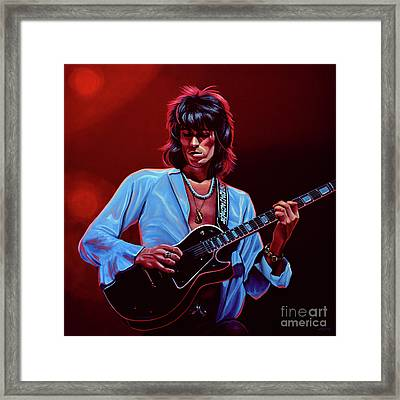 Keith Richards The Riffmaster Framed Print by Paul Meijering