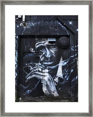 Keith Richards Graffiti Framed Print by Theresa Tahara