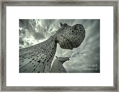 Kelpies  Framed Print by Rob Hawkins