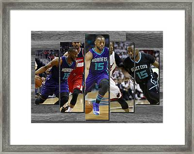 Kemba Walker Charlotte Hornets Framed Print by Joe Hamilton