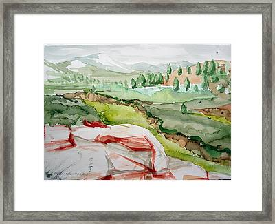 Kennedy Meadows 2 Framed Print by Amy Bernays
